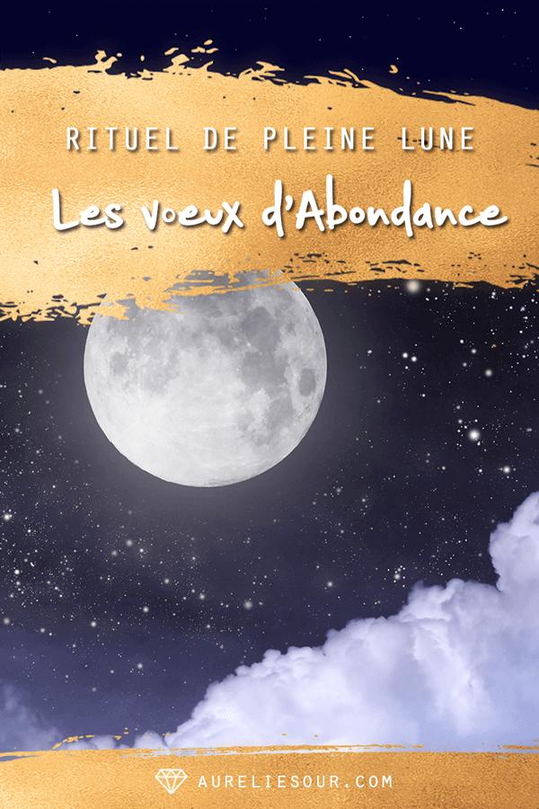 voeux de la pleine lune rituel